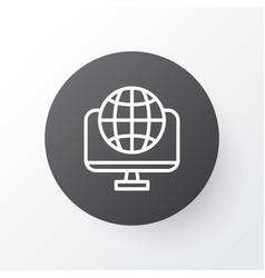 world wide web icon symbol premium quality vector image vector image