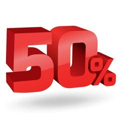 50 percent digits vector image