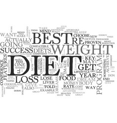 best diet key features your diet must have for vector image
