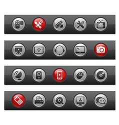 Communications Buttons vector image vector image