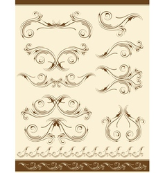 decorative frame and ornaments for design vector image vector image