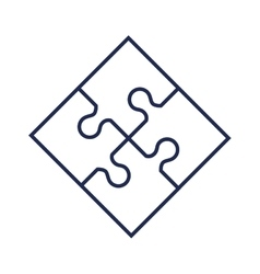 puzzle game pieces isolated icon vector image vector image