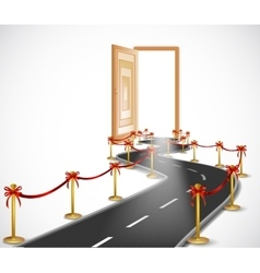 Way with opened door vector image vector image