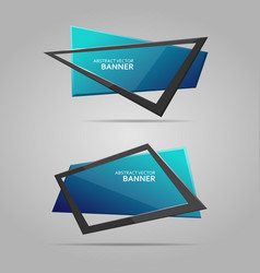 abstract banner with frame vector image vector image
