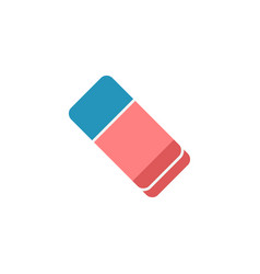 Eraser flat icon school and education element vector
