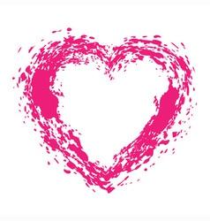 Hand Drawn Grunge Heart vector image vector image