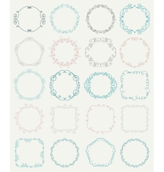 Hand Sketched Doodle Borders and Frames vector image vector image