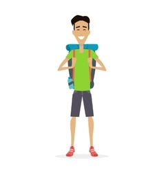 Hiker traveler vector