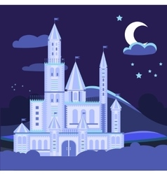 Night landscape with castle vector image vector image