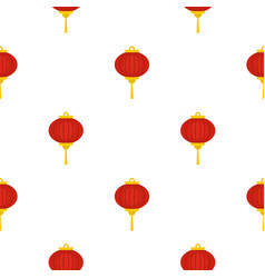 red chinese lantern pattern seamless vector image vector image