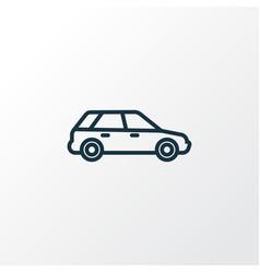 Station wagon outline symbol premium quality vector