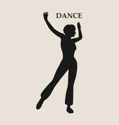 Abstract women in dancing pose vector