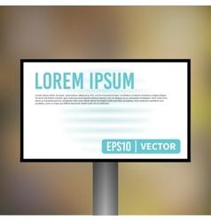 horizontal empty light billboard display vector image