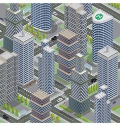 Isometric architecture business city cityscape vector