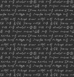 Physics formulas seamless background vector image