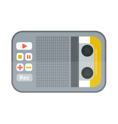 tape recorder or dictaphone icon isolated on white vector image