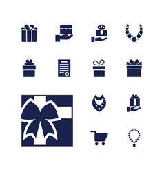13 present icons vector image