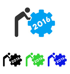 2016 working man flat icon vector