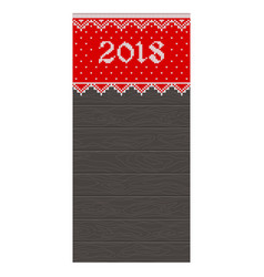 2018 knitted wooden card vector