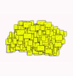 Abstract handphone or mobilephone generative art vector