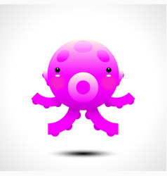adorable octopus character vector image