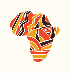 African continent map concept in tribal shapes vector