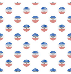american flag constitution day pattern seamless vector image