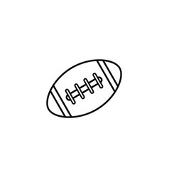 american football ball line icon college sport vector image