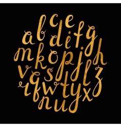 Artistic handdrawn golden font vector