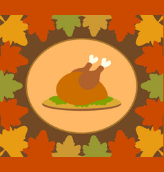 Autumn thanksgiving day background with cooked vector