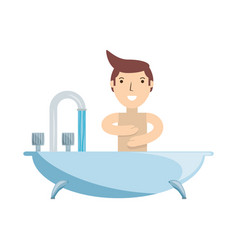 bath symbol isolated vector image