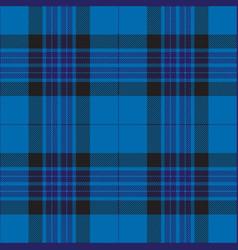 blue and black tartan plaid seamless pattern vector image