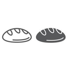 bread line and glyph icon bakery and food pastry vector image