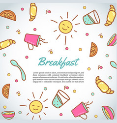 breakfast background morning time background vector image