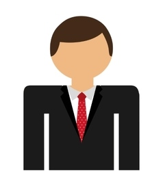businessman standing isolated icon design vector image