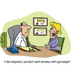 Cartoon doctor and patient vector image