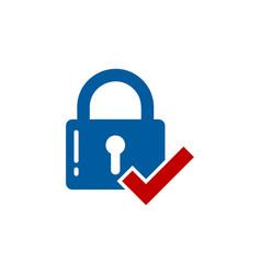 check security logo icon design vector image