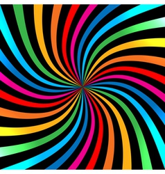Colorful Bright Rainbow Spiral Background logo des vector image