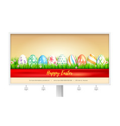 concept billboard design with easter eggs vector image