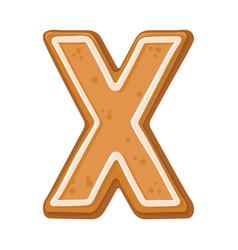 Cookies in shape letter x vector