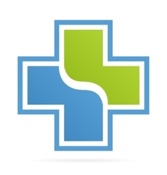 Cross medical logo vector