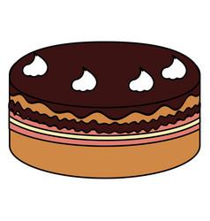 delicious cake celebration icon vector image