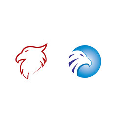 Eagle logo template vector