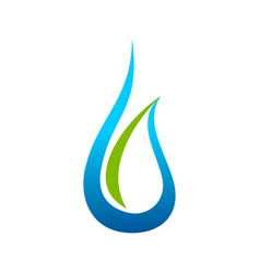 eco friendly water drop symbol design vector image