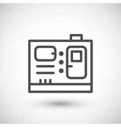 Electric generator line icon vector image
