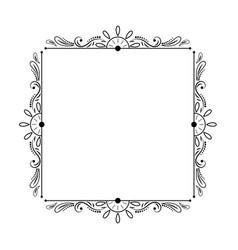 Elegant stylish black vintage square frame vector