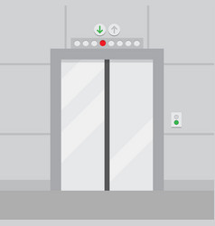 Elevator with closed door vector