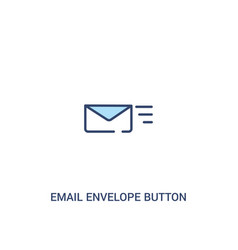 Email envelope button concept 2 colored icon vector