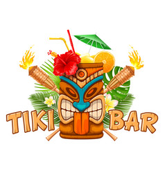 Emblem of tiki bar vector