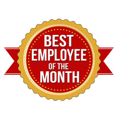 employee of the month label or stamp vector image